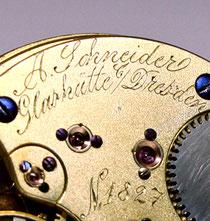 Eine frühe Werksignatur der Firma Adolf Schneider