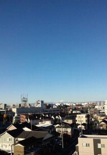 遠くに富士山♪