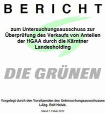 Bericht zum Untersuchungsausschuss im Kärntner Landtag