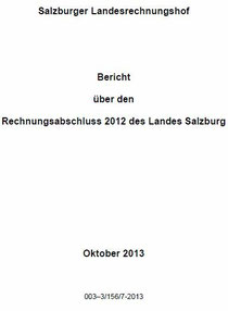Bericht Landesrechnungshof Salzburg