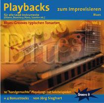 Jamtracks für E-Gitarre (und auch andere Instrumente) mit Blues-Grooves von 12/8 über New Orleans bis Shuffle-Rock-Blues