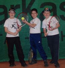 Auch unsere Jüngsten sind am Vormarsch: Lukas, Manuel & Felix gemeinsam mit Tina (nicht am Bild)