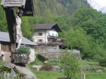 Gasthaus Longfall im Spronsertal oberhalb Dorf Tirol