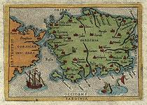 Figura 8.1 - Carta della Sardegna del 1500