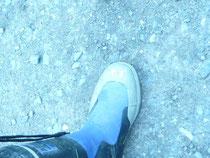 長靴には名前「やす」の文字が!