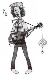 Selbstportrait, Ausschnitt eines Konzert-Flyers (2003)