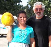 diese Melone war ein Geschenk