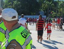 die meisten Fan kamen im Flamengo-Trikot