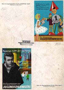 Pflichtschüler und Jugend-Weltspartags-Plakat 1960 von Heinz Traimer.