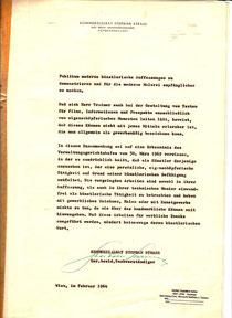 Künstlerisches Gutachten zu Heinz traimer von Stephan Strass 1964.