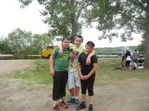 Antoine, Octave et Théo ont représentés les couleurs de l'ASG Aviron