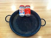 32センチのパエリア鍋とYoukiのガラスープと貝柱スープ 顆粒