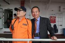 Die Gastgeber des Yang-Ming-Containerschiffes