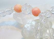 誕生石ブレスレット ピンクサンゴ