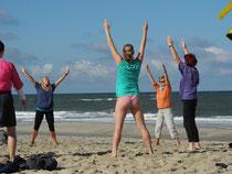Egal bei welchem Wetter. Mit meiner Guten-Morgen-Gymnastik startet man frisch in einen schönen Ferientag!