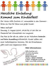 Kommt zum Kinderfest