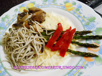 Gulas con verduras y claras