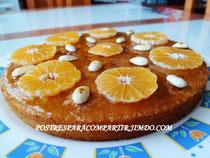Pastel de mandarina con almendras