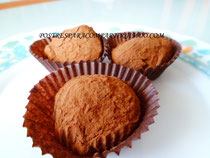 Trufas de chocolate y naranja Dukan