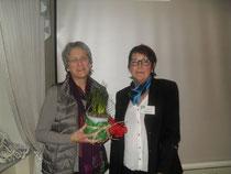 Irmgard Fleig bedankte sich sehr herzlich bei Marlis Bandholz für deren kompetente Mitarbeit