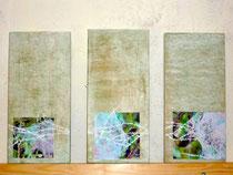 Wahrnehmungsschulung; den inneren Bildern Raum geben, mixed media auf Holz