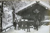 Silvesterfeier 1910 auf der Hütte