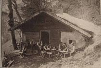 Die Winkler Almhütte um 1908