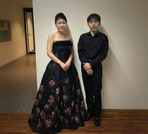 終演後、ピアニスト大田佳弘さんと
