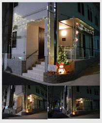 日本キリスト改革派八事教会 2013年クリスマスイルミネーション