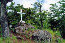 Skleněný kříž na hoře Reiseck