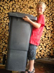 """""""Kinderleichte"""" Restmüllbehälter aufgrund sauberer  Mülltrennung"""