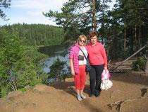 Я и моя подруга в Карелии