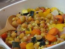 炒め野菜のオーブン焼き