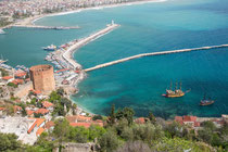 Alanya - Roter Turm mit Hafen