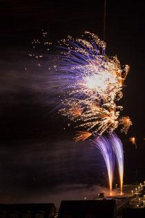 Feuerwerk an der Landungsbrücke