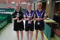 Johanna (links) wurde Zweite im Einzel