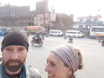 On top of the hill before Kathmandu