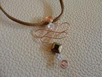 MA-0004 - Kette mit eckiger Perle