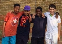 Boys 12U team Maceo, Harry, Tarique & Hamish
