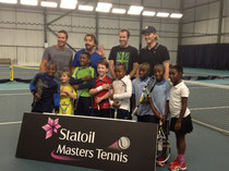 Juniors with Pat Rafter, Henri Leconte, Greg Rusedski and Thomas Enqvist