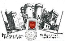 Première exposition philatélique à Villeneuve lez Avignon