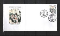 Enveloppe Premier Jour du timbre sur Villeneuve lez Avignon