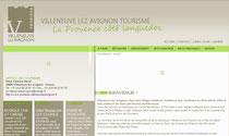 Site de l'Office de Tourisme de Villeneuve lez Avignon