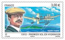 Timbre Poste Aérienne - Centenaire de l'hydravion