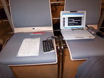 Übertitel-Inspizienz während Probe