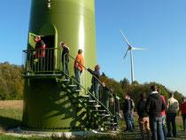 Besuch einer Windkraftanlage