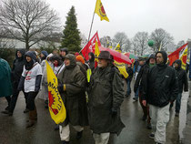Demonstranten in Gronau