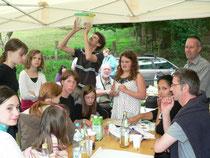 """Die Kindergruppe """"Die Wilden Wiesel"""" forschte fleißig mit (Foto: C. Buchen)"""