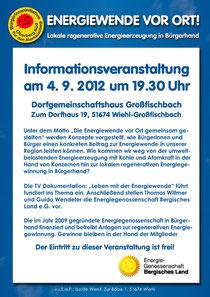 Infoblatt zur Veranstaltung