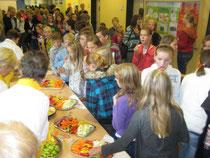 Gemüsetag an der Lise-Meitner-Schule in Moordeich